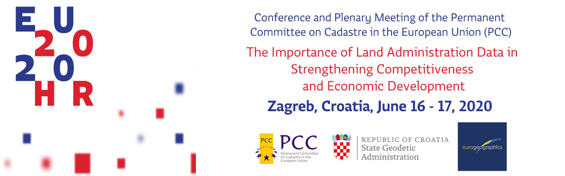 Image of PCC Conference and Plenary Meeting. The importance of land administration data in strengthening competitiveness and economic development. June  16 - 17 2020 - Zagreb, Croatia